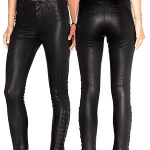 Blank NYC Leather Lace Ankle Pants